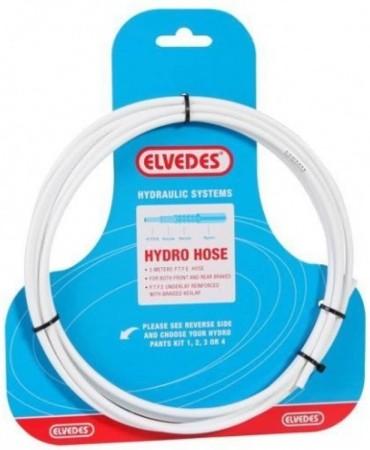 Καλώδιο για υδραυλικά δισκόφρενα Elvedes (3m) ΛΕΥΚΟ