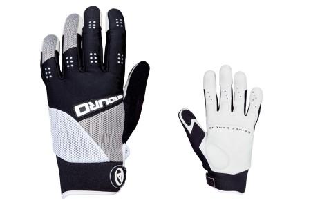 Χειμερινά γάντια ποδηλασίας AUTHOR |Men Endurο| μαύρο | λευκό