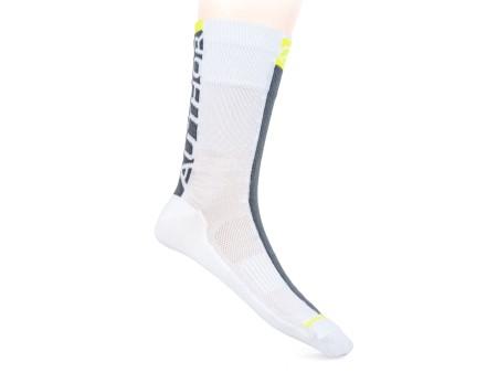 Κάλτσες ποδηλασίας Author A-Stripe 151| λευκό | γκρί | κίτρινο νεον