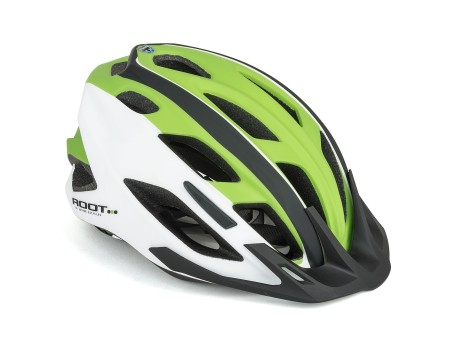 Κράνος ποδηλάτου | Author | Root Inmold | Λευκό-Πράσινο-Μαύρο