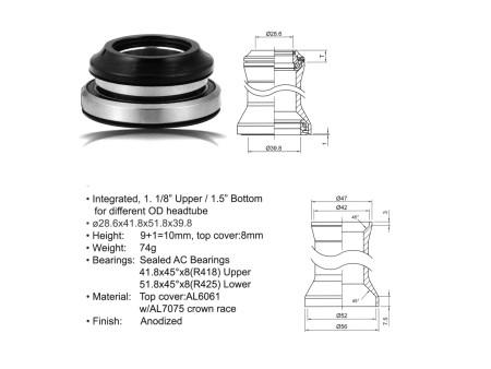 Ποτήρια Πιρουνιού | AUTHOR | (28.6/ 41.8/ 51.8/ 39.8mm) | Μαύρο