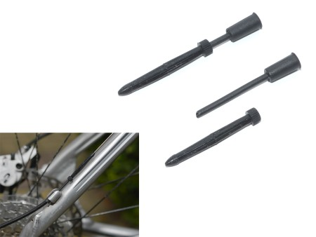 Φωλιά καλωδίου ταχυτήτων 4mm ABS-Kb-01S 4mm | Πακέτο 100τμχ  (black)