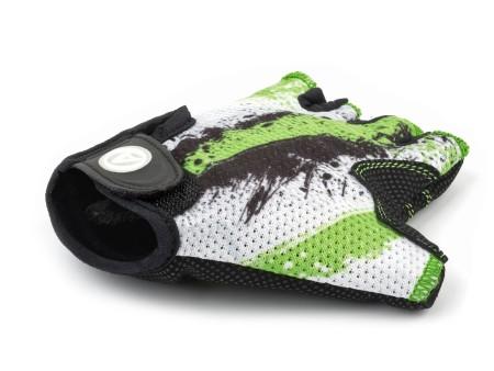 Γάντια ποδηλασίας Author Junior X6   Πράσινο   Λευκό