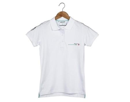 Κοντομάνικη γυναικεία μπλούζα Polo Bianchi (λευκή)