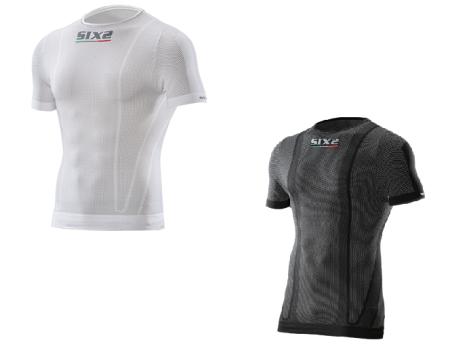 SIX2 Κοντομάνικη Μπλούζα Carbon TS1 (Άσπρο , Μαύρο)