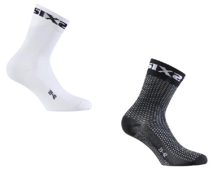 Κάλτσες ποδηλασίας κοντές  SIX2   SHORT S   Λευκό  Μαύρο  