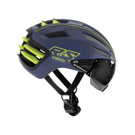 Κράνος ποδηλάτου | CASCO | SPEEDairo 2 | με VAUTRON® automatic visor | Μπλέ Κίτρινο Νέον