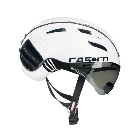 Κράνος ποδηλάτου | CASCO | SPEEDster | Μαύρο Άσπρο με SPEEDmask