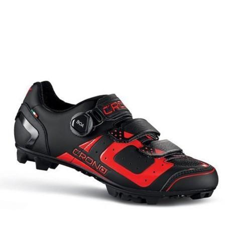 Παπούτσια για ορεινή ποδηλασία και spinning | CRONO | CΧ3-19 ΜΤΒ Nylon | Μαύρο Κόκκινο