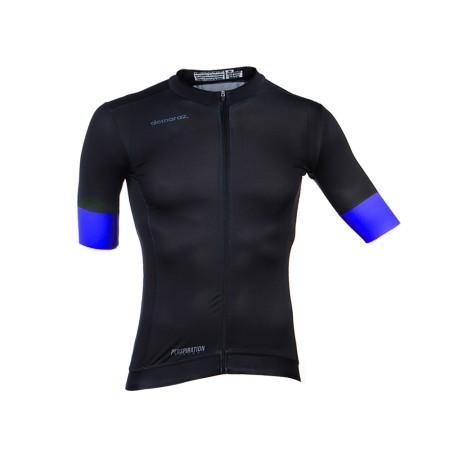 Φανέλα ποδηλασίας | Κοντό Μανίκι | DEMARAZ | Pro Elite | Μαύρη - Μπλέ