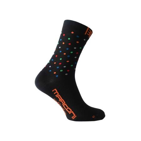 Κάλτσες ποδηλασίας | MARCONI | Black Dots