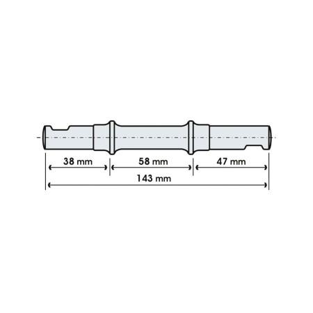 Μεσαία τριβή | BRN | 143 mm