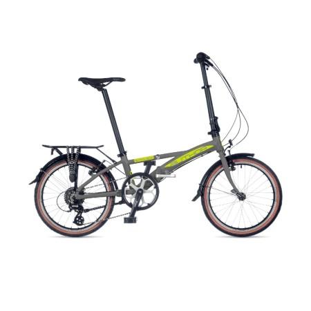 Ποδήλατο Σπαστό | Author | Simplex 2021 | 20 ιντσών | Ασημί/Κίτρινο | podilatis.gr