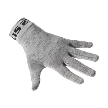 Χειμερινά γάντια ποδηλασίας | SIX2 | Εσωτερική επένδυση γαντιού GLX Merino | Γκρι | podilatis.gr
