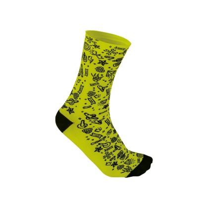 Κάλτσες Ποδηλασίας | BRN | Rock'N'Roll | Κίτρινο Fluo