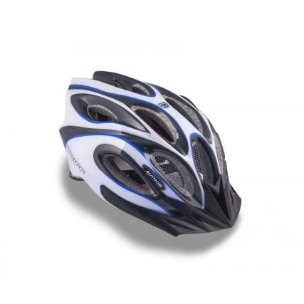 Κράνος ποδηλασίας | Author | Skiff Inmold |143 Μπλε/Λευκό/Μαύρο
