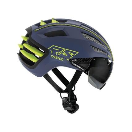 Κράνος ποδηλάτου   CASCO   SPEEDairo 2   με VAUTRON® automatic visor   Μπλέ Κίτρινο Νέον