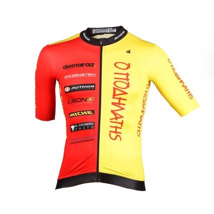 Φανέλα ποδηλασίας | Demaraz | Podilatis PRP | Κόκκινο - κίτρινο