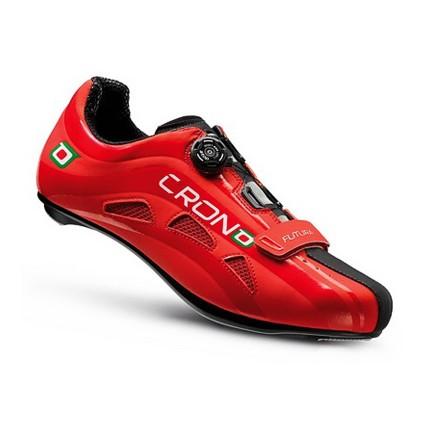 Παπούτσια για ποδηλασία Δρόμου | CRONO | Futura nylon | Κόκκινο