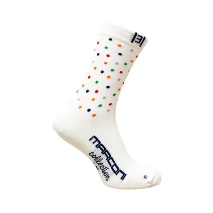 Κάλτσες ποδηλασίας | MARCONI | White Dots
