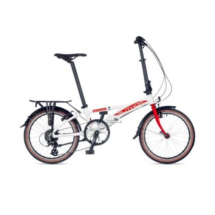 Ποδήλατο Σπαστό | Author | Simplex 2021 | 20 ιντσών | Λευκό/Κόκκινο | podilatis.gr