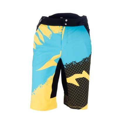 Παντελονι ποδηλασιας | Enduro Shorts | Demaraz | Κίτρινο - Γαλάζιο